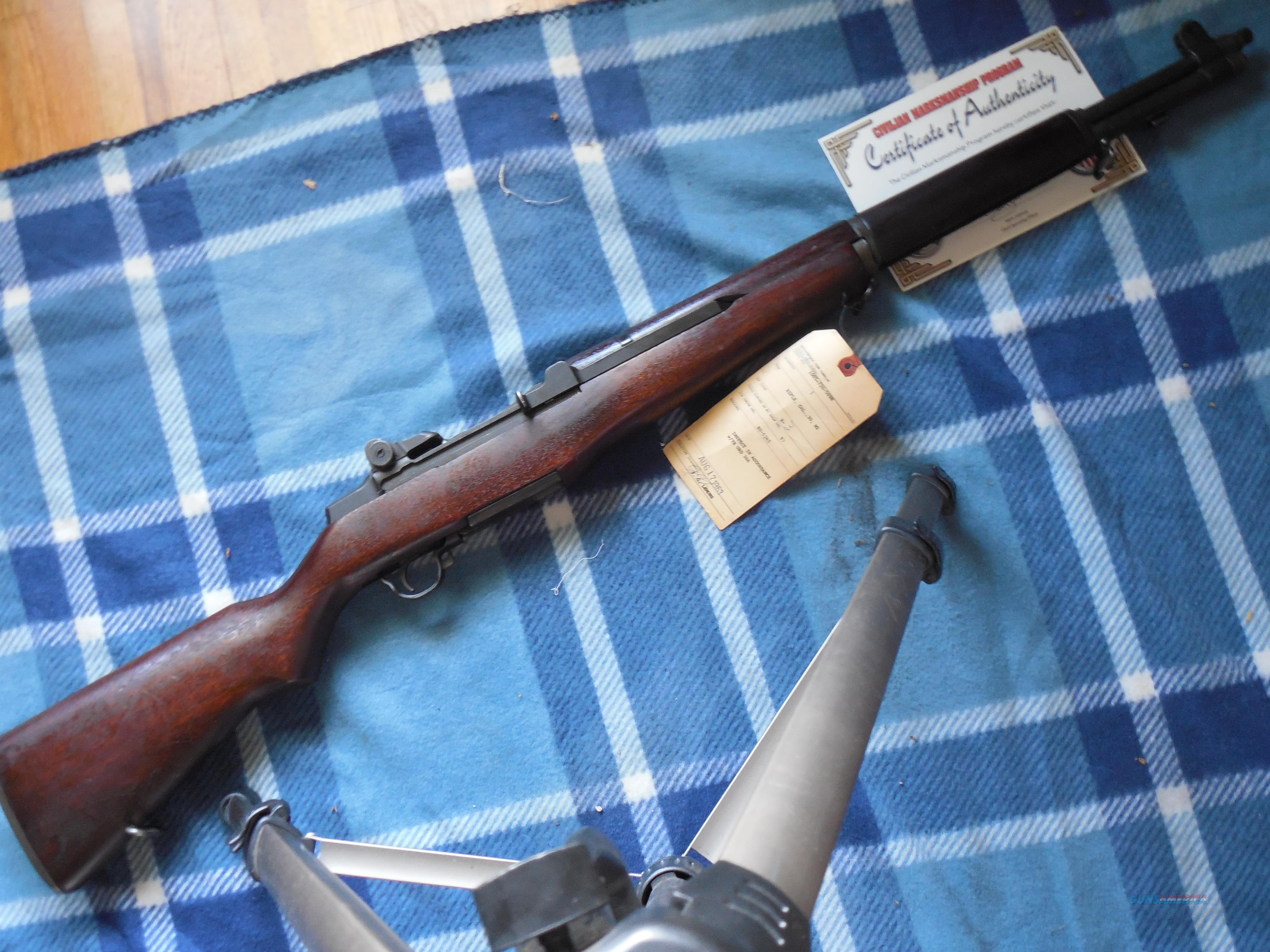 1943 dated M1 Logged into the Armory 1963, Excellent!  Guns > Rifles > Military Misc. Rifles US > M1 Garand