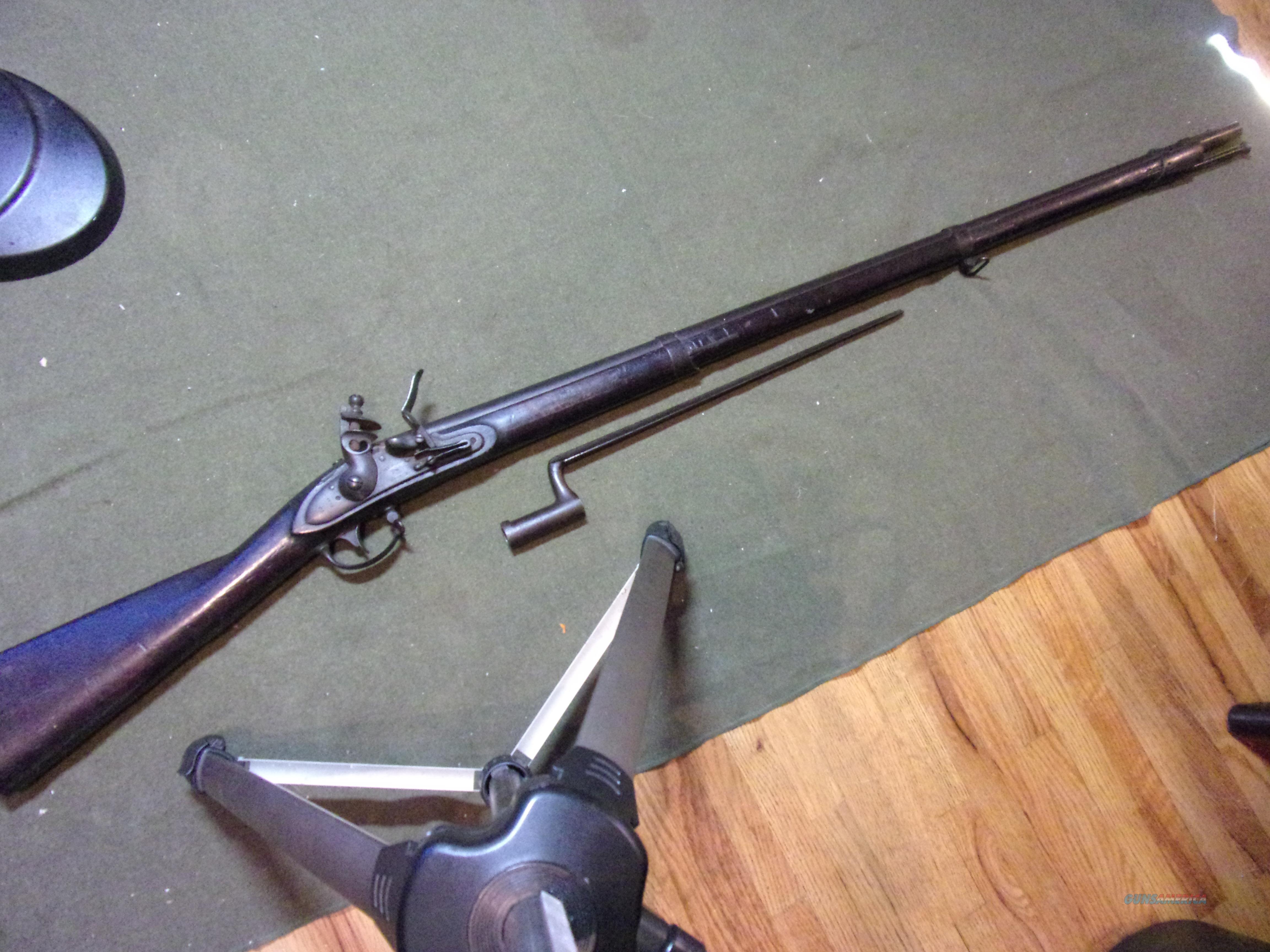 US Springfield Mod. 1816 musket w/bayonet (correct)  Guns > Rifles > Antique (Pre-1899) Rifles - Flintlock Misc
