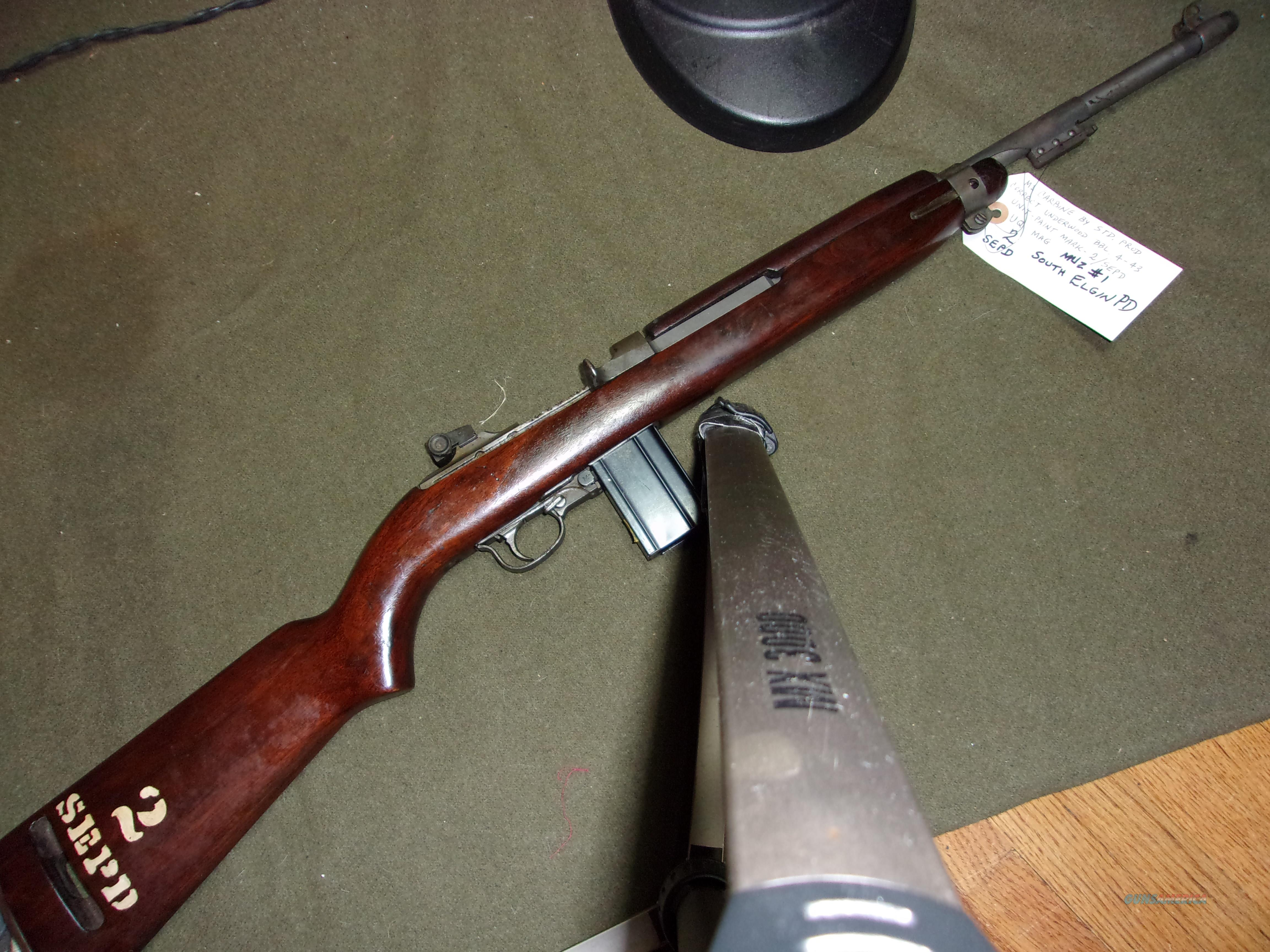US M1 Carbine by Standard Products and Police Dept marked  Guns > Rifles > Military Misc. Rifles US > M1 Carbine