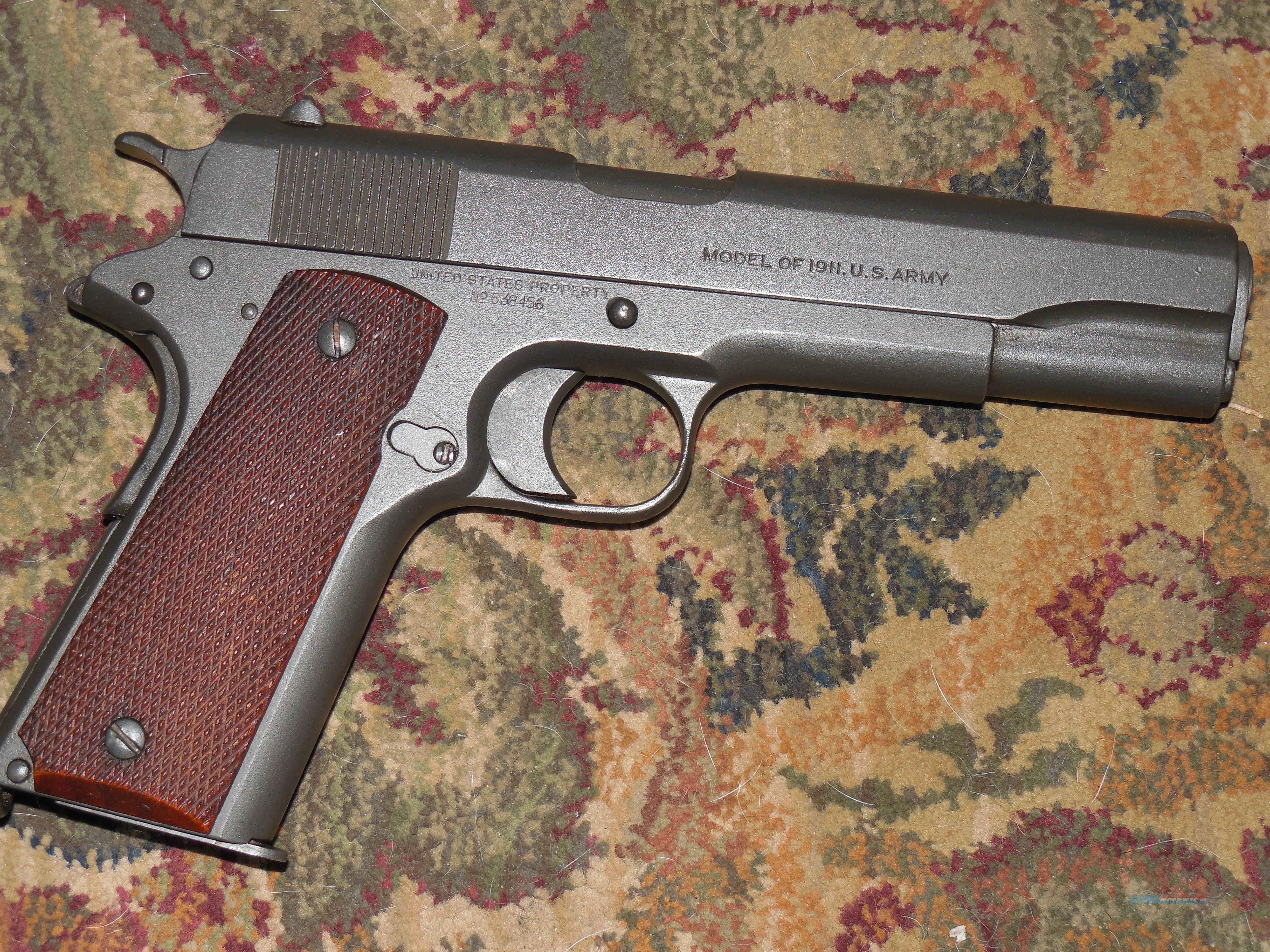 Colt 1911 45 1918 made  Guns > Pistols > Military Misc. Pistols US > 1911 Pattern