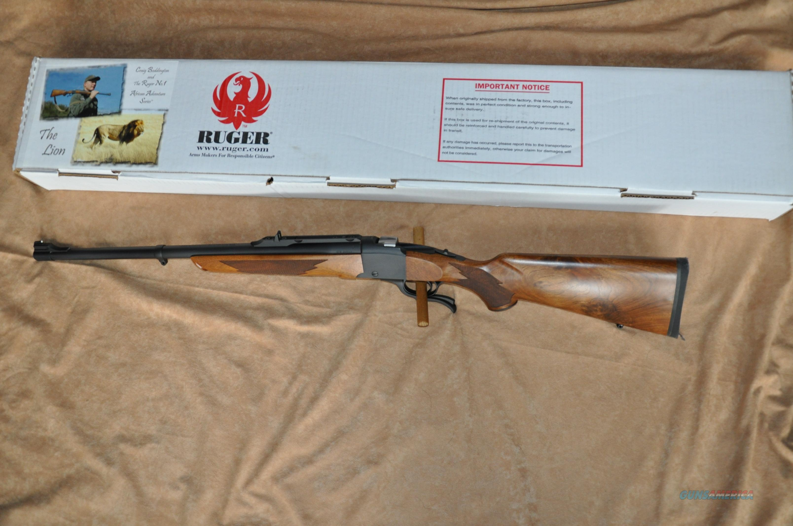 Ruger No. 1-S 375 Ruger Boddington Series NIB Beautiful Wood  Guns > Rifles > Ruger Rifles > #1 Type