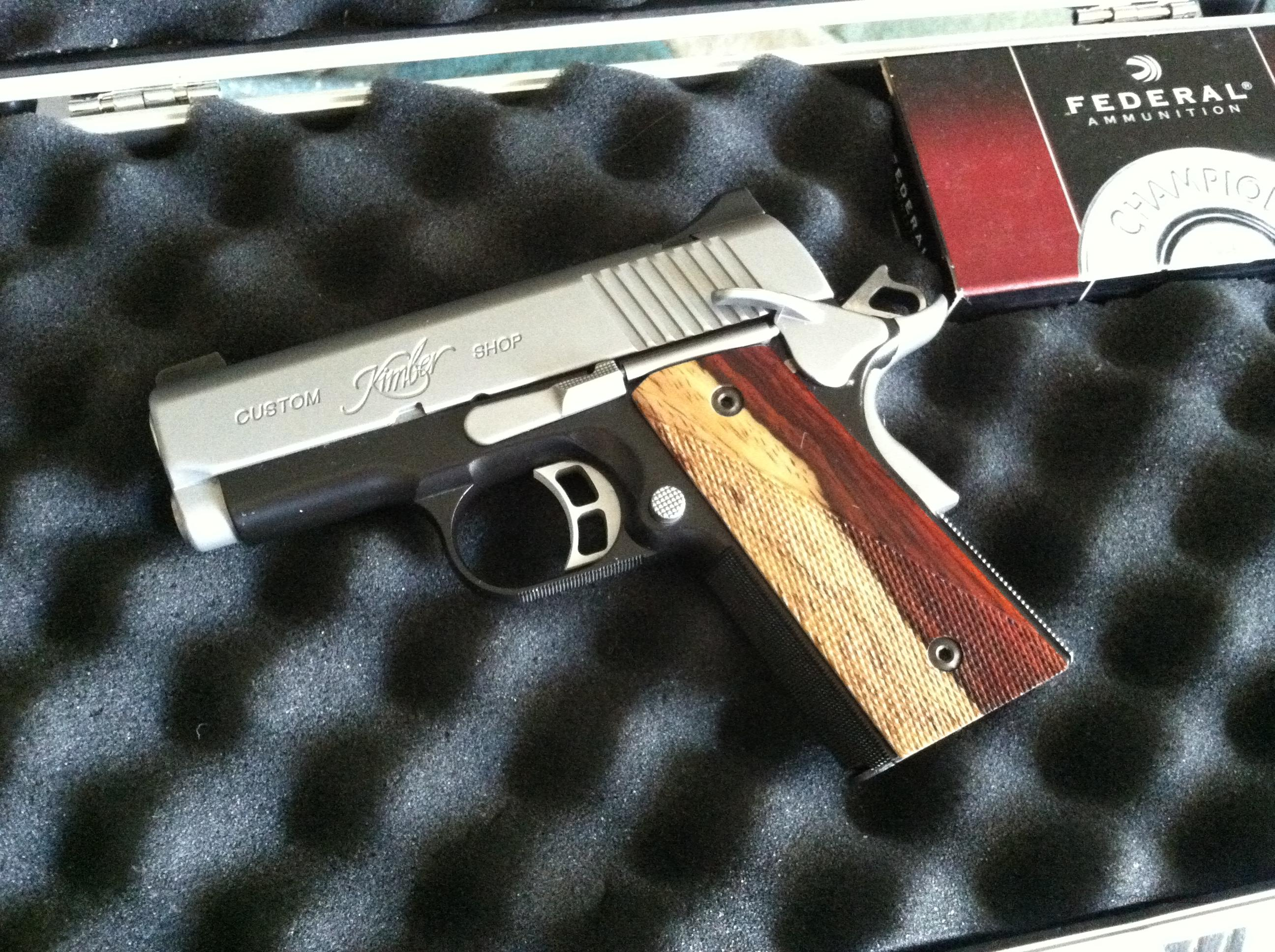 Kimber CDP II Ultra 4 Mags, Custom grips & carry clip  Guns > Pistols > Kimber of America Pistols