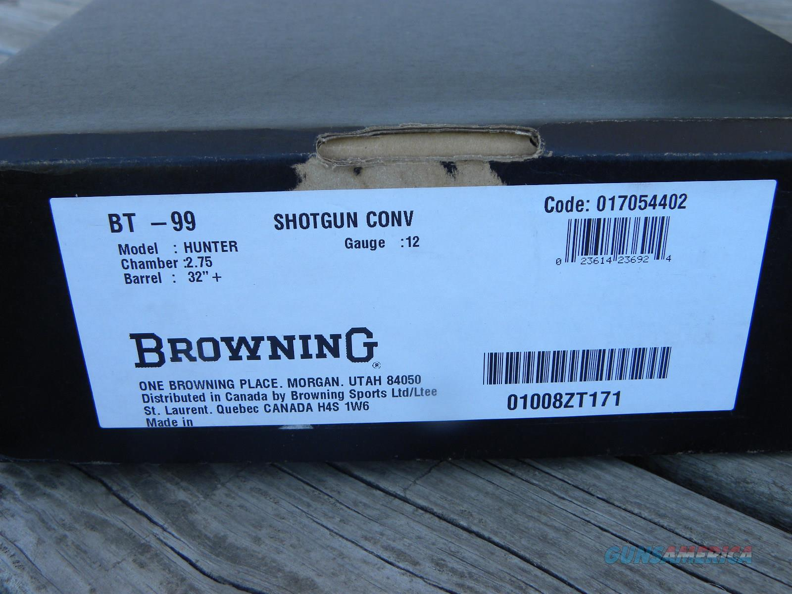 Browning BT-99 12/32 Conventional 017054402  Guns > Shotguns > Browning Shotguns > Single Barrel