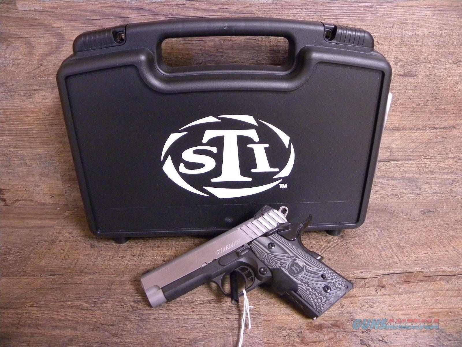NIB STI Guardian 9mm 8+1 Crimson Trace Grips  Guns > Pistols > STI Pistols