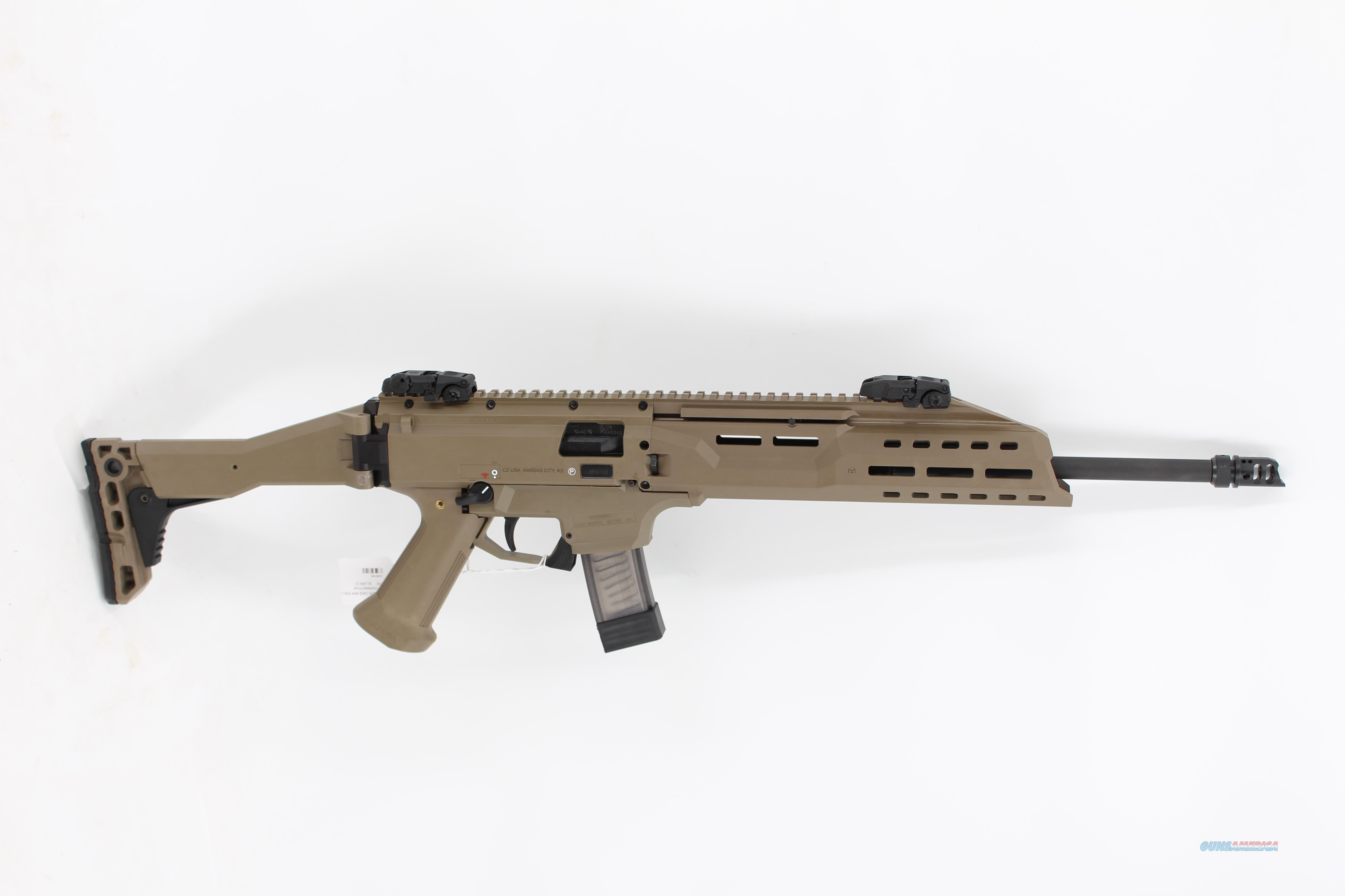 "CZ Scorpion Evo 3 S1 9mm Luger FDE 16"" Barrel  Guns > Rifles > CZ Rifles"
