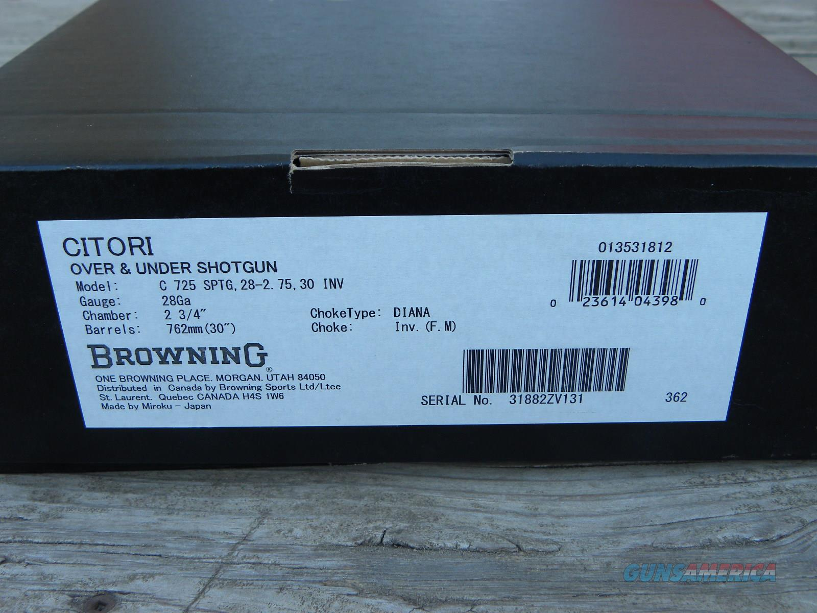 NIB Browning Citori 725 Sporting 28/30 013531812  Guns > Shotguns > Browning Shotguns > Over Unders > Citori > Hunting