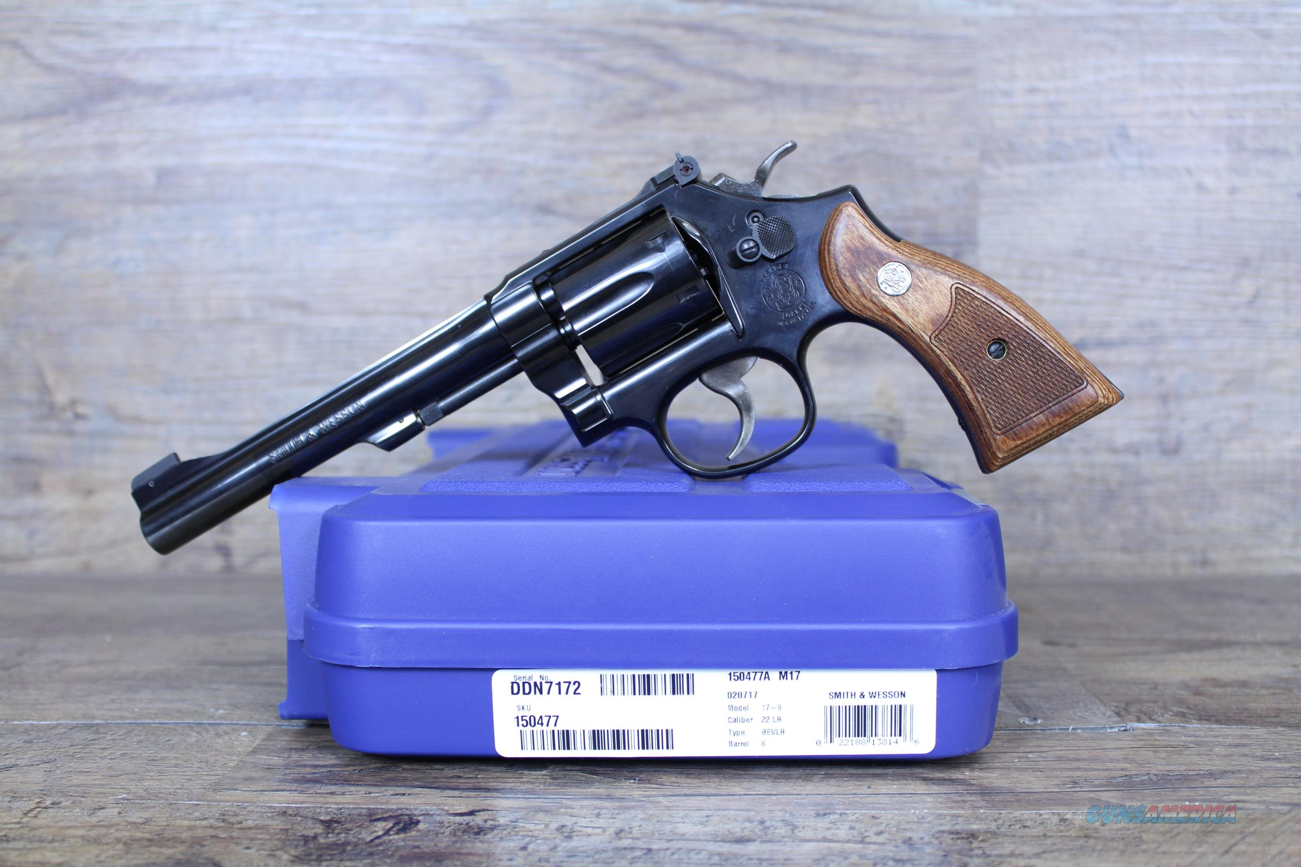 "NIB Smith & Wesson 17-9 .22lr 6"" 150477  Guns > Pistols > Smith & Wesson Revolvers > Med. Frame ( K/L )"