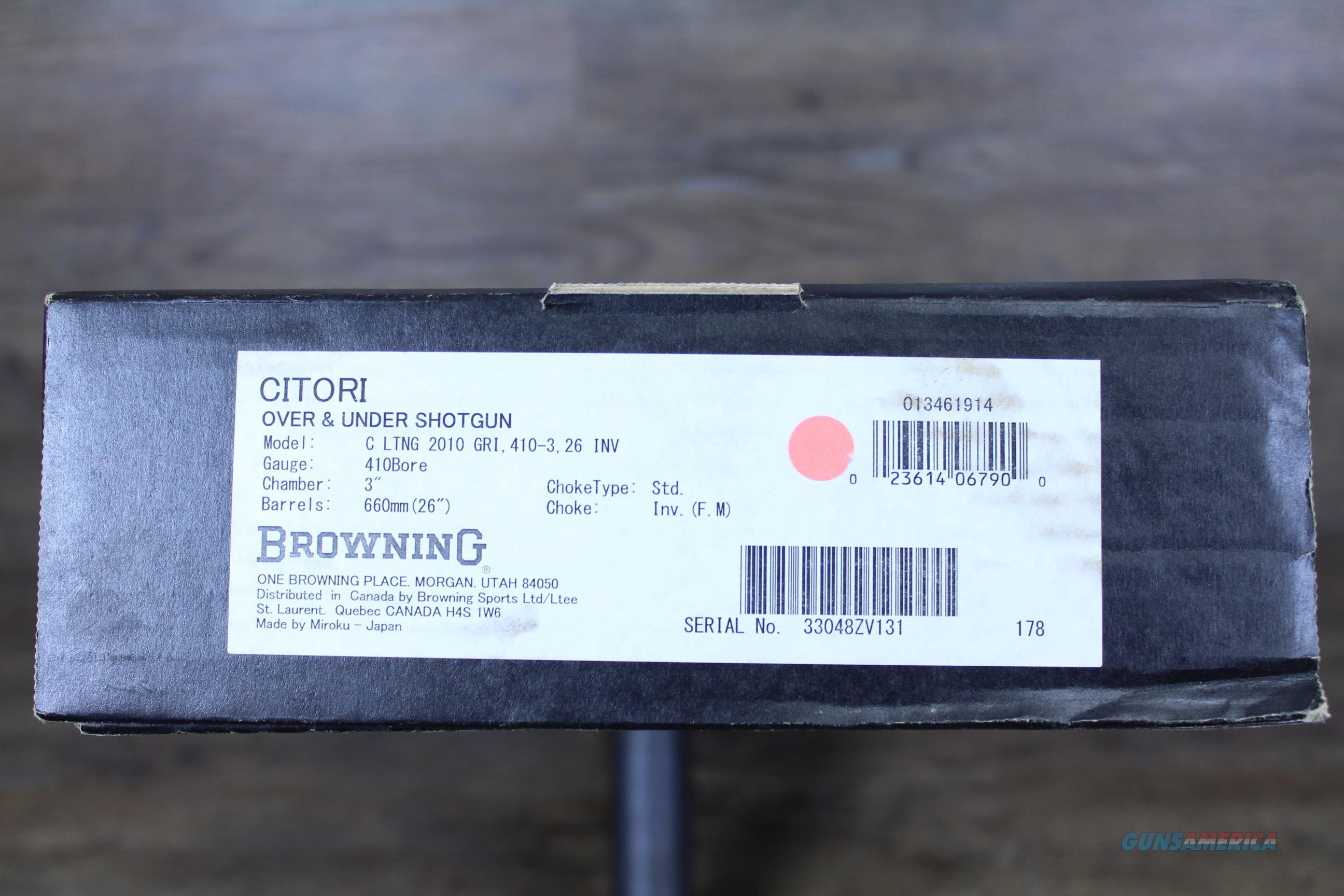 NIB Browning Citori Lightning .410/26 013461914  Guns > Shotguns > Browning Shotguns > Over Unders > Citori > Hunting