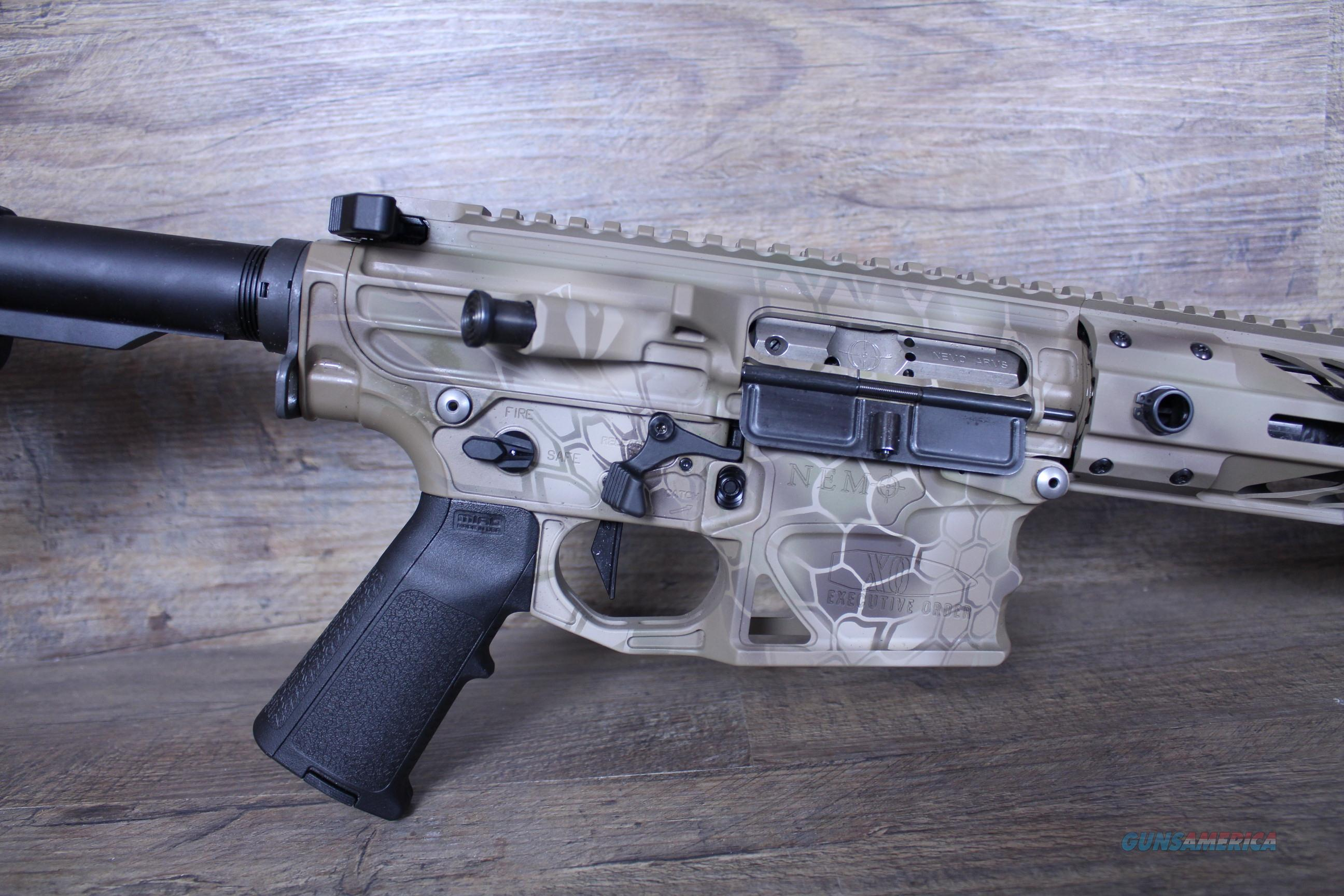 "Nemo Executive Order 6.5 Carbon 20"" Kryptek Camo Silencer Ready-Long Range-Geissele-Magpul  Guns > Rifles > Nemo Arms Rifles"