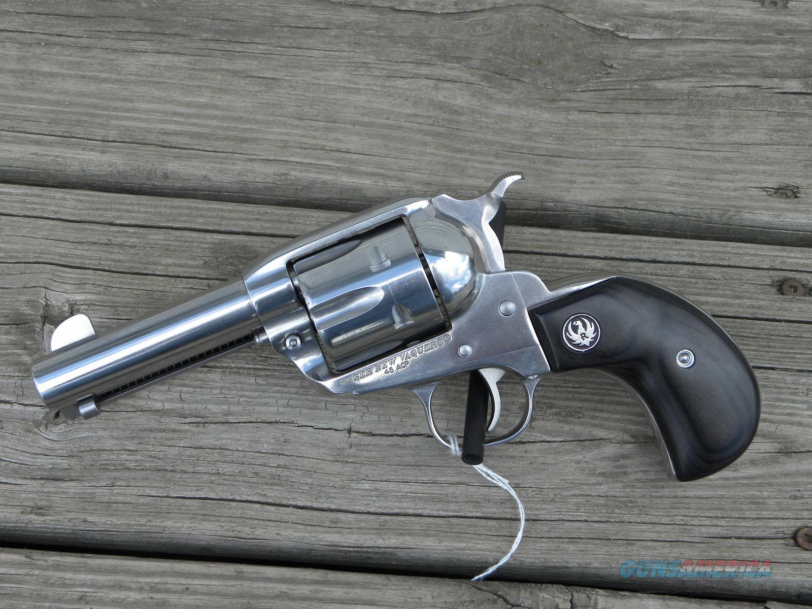 "Ruger Vaquero 5152 4"" Stainless TALO .45acp  Guns > Pistols > Ruger Single Action Revolvers > Cowboy Action"