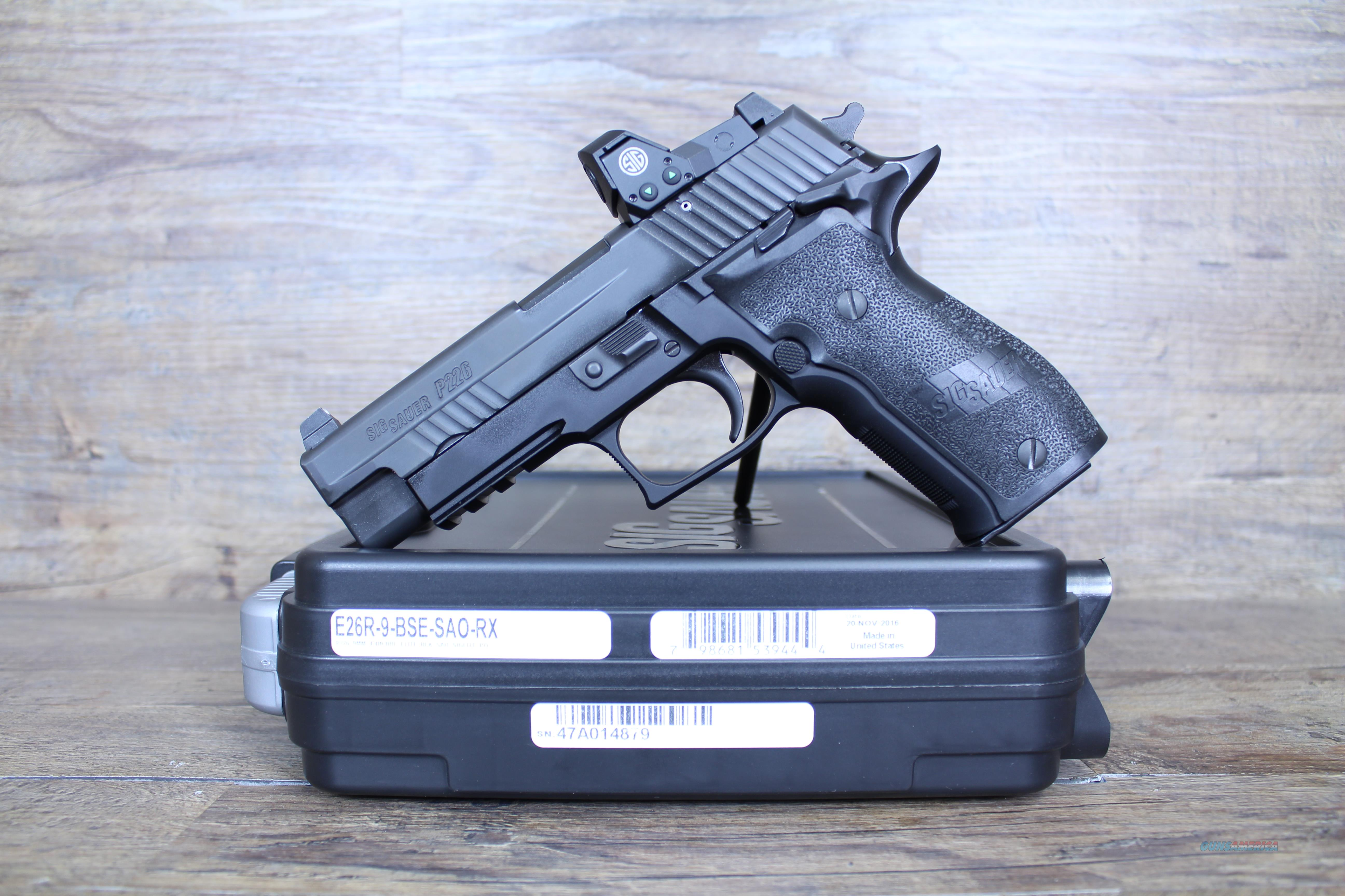 Sig Sauer P226 SAO RX 9mm 15+1 w/ Romeo Red Dot  Guns > Pistols > Sig - Sauer/Sigarms Pistols > P226