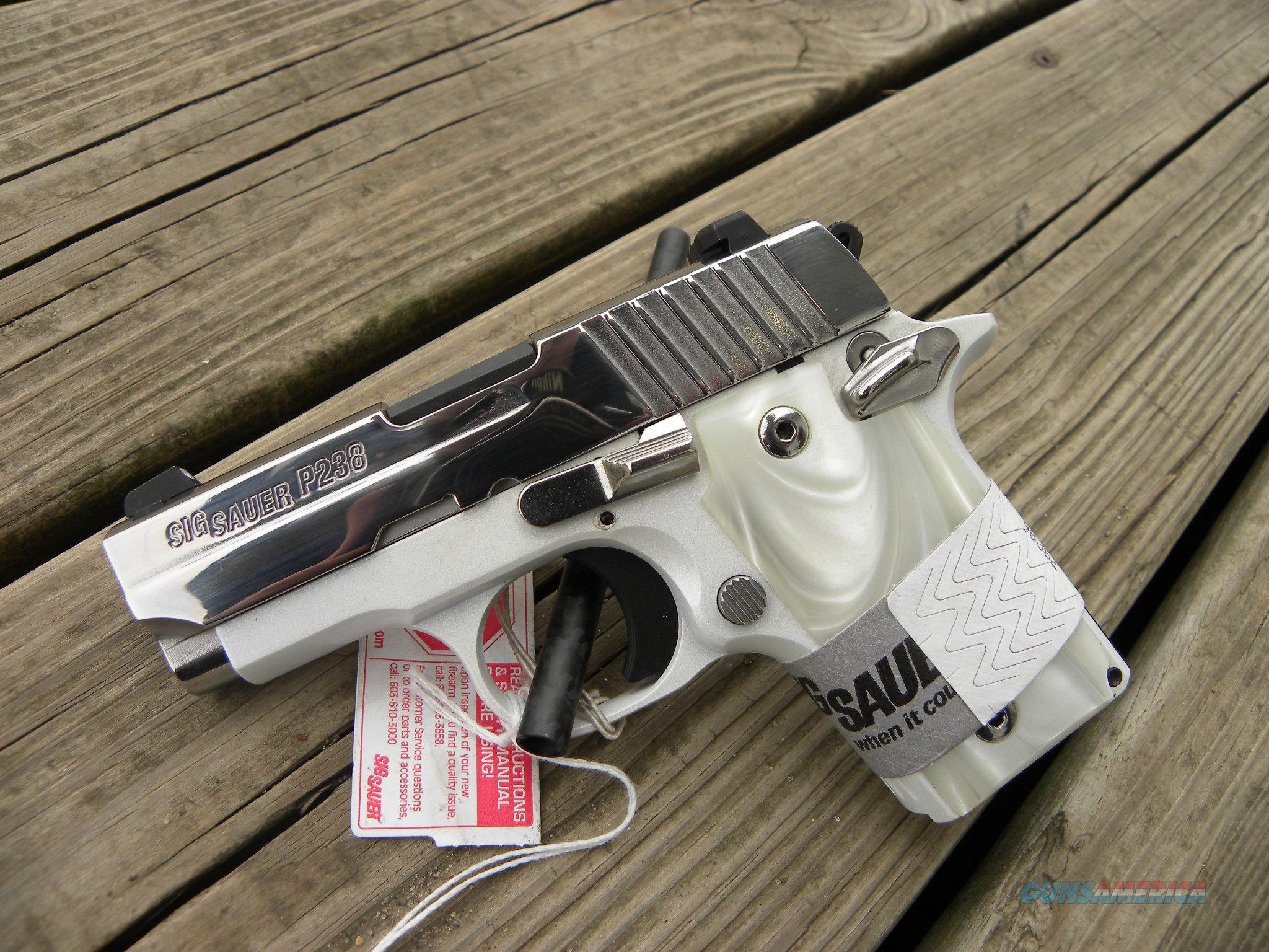 "SPECIAL Sig Sauer P238 White Chrome 2.7"" 6+1  Guns > Pistols > Sig - Sauer/Sigarms Pistols > P238"