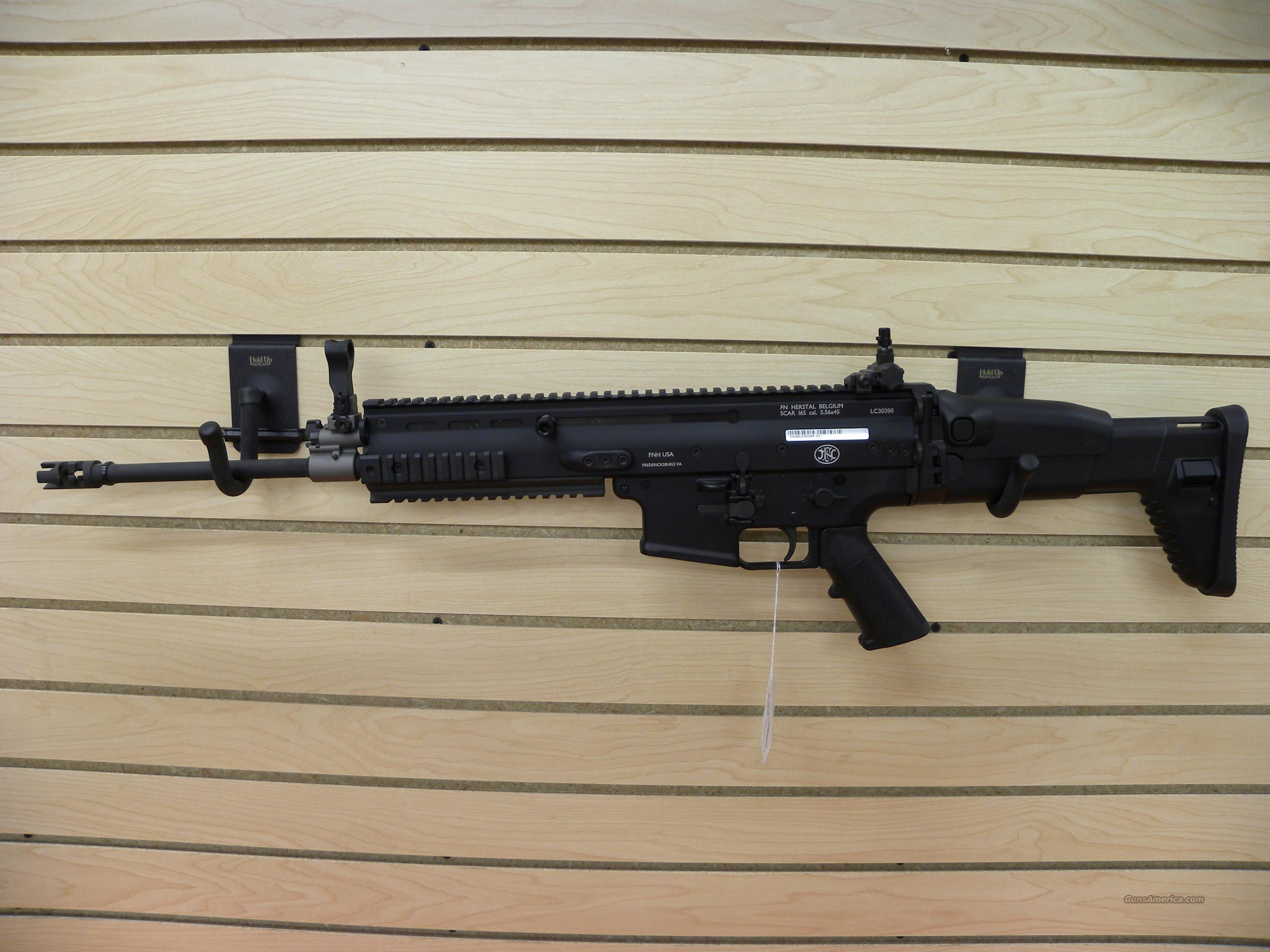 FN SCAR16 5.56 Black  Guns > Rifles > FNH - Fabrique Nationale (FN) Rifles > Semi-auto > Other