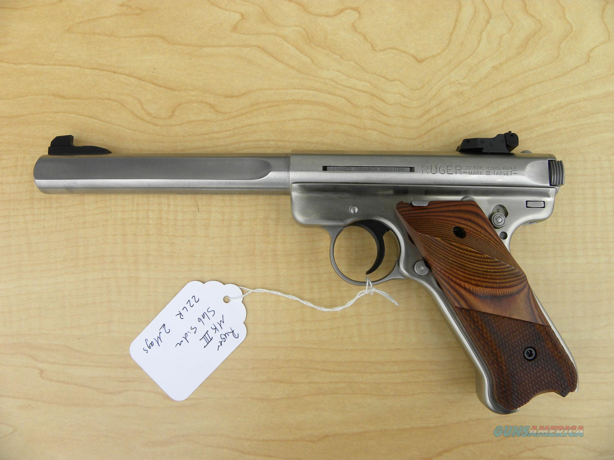 "Ruger MkIII Slabside Competition 6.8"" .22lr #10112  Guns > Pistols > Ruger Semi-Auto Pistols > Mark I/II/III Family"
