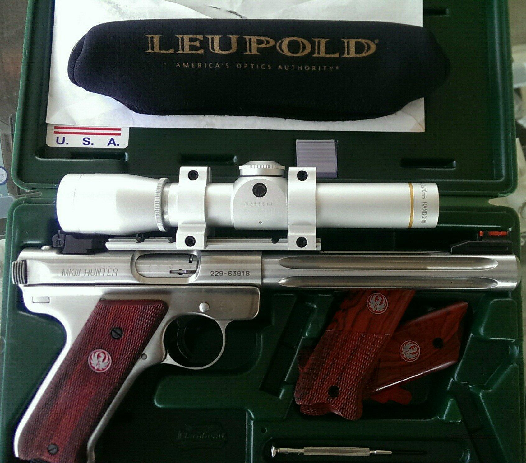 Ruger MkIII with Leupold FX-II 2x20mm Scope and Target grips  Guns > Pistols > Ruger Semi-Auto Pistols > Mark I & II Family