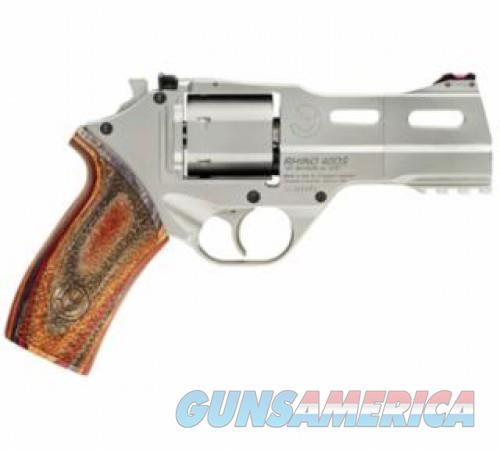 Chiappa Firearms White Rhino 40DS Brushed Nickel .357 Mag 4-inch 6Rds  Guns > Pistols > Chiappa Pistols & Revolvers > Rhino Models