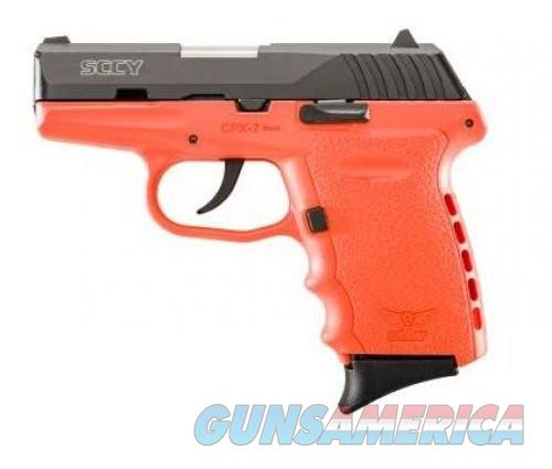 SCCY CPX-2 Black / Orange 9mm 3.1-inch 10Rd  Guns > Pistols > L Misc Pistols