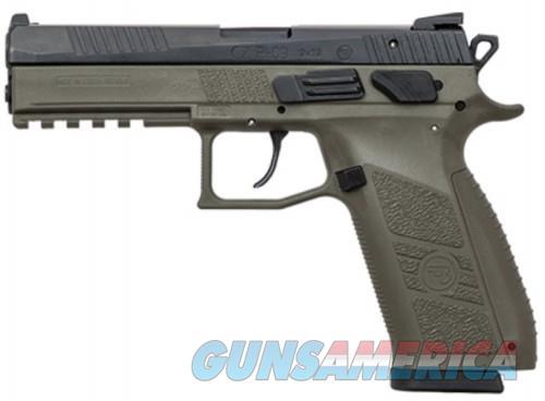 CZ P09 Duty Black / OD Green 9mm 4.53-inch 19Rds Night Sights  Guns > Pistols > L Misc Pistols