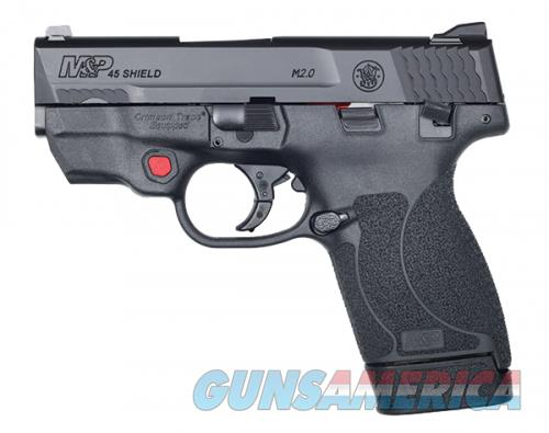 Smith & Wesson Shield M2.0 .45ACP 7 Round Thumb Safety Red Laser Fixed Sights 12087  Guns > Pistols > L Misc Pistols