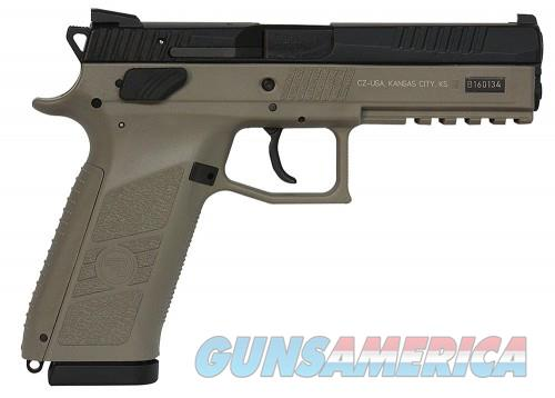 CZ-USA 91630 P09 Poly 9MM Flat Dark Earth 19Rd Night Sights  Guns > Pistols > CZ Pistols