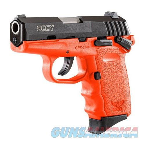 CPX-1 9mm Black/Orange Safety 10 Rd  Guns > Pistols > SCCY Pistols > CPX1