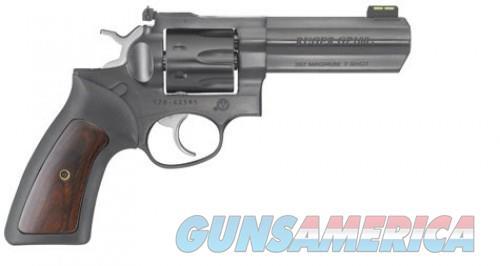 Ruger GP100 Blue .357 Mag / .38 SPL 4.2-inch 7Rds Black Rubber w/Hardwood Insert Grips  Guns > Pistols > L Misc Pistols