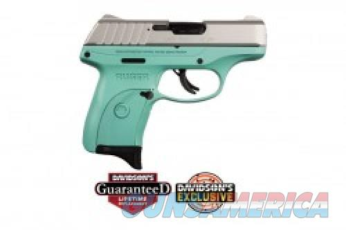 Ruger EC9s Turquoise/Stainless 9mm 3.12-inch 7Rds  Guns > Pistols > L Misc Pistols