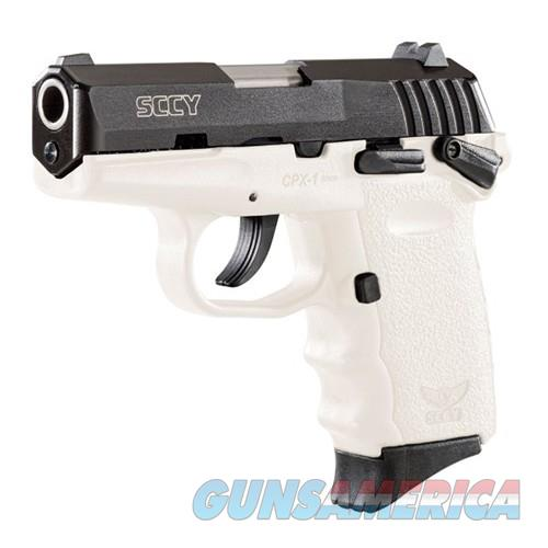 CPX-1 9mm Black/White Safety 10 Rd  Guns > Pistols > SCCY Pistols > CPX1