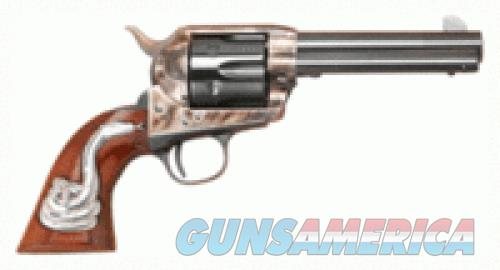 "Cimarron Man With No Name .45 LC Single Action Revolver 4.75"" Barrel 6 Rounds Hollywood Series Walnut Grips with Rattlesnake Inlay Case Color/Blued Finish  Guns > Pistols > L Misc Pistols"