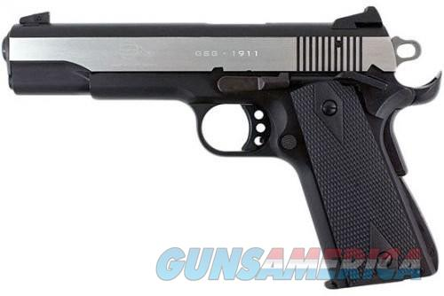 American Tactical Imports German Sport Guns M1911 Semi Auto Pistol Black / Polished Stainless 22 LR 5 inch 10 rd  Guns > Pistols > L Misc Pistols