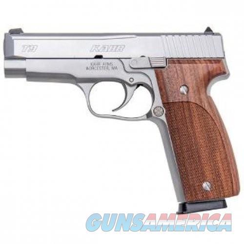 "Kahr Arms T9 Premium Series Semi Auto Pistol 9mm Luger 3.9"" Barrel 8 Rounds Tritium Night Sights Checkered Hogue PAU FERRO Wood Grips Stainless Steel Frame/Slide Matte Finish  Guns > Pistols > Kahr Pistols"