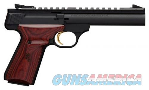 Browning Buck Mark Field Target Matte Black / Rosewood  .22 LR 5.5-inch 10Rd  Guns > Pistols > Browning Pistols > Buckmark