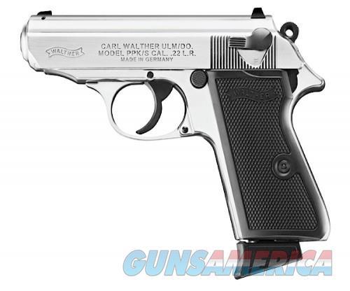 Walther PPK/S Pistol 22LR 3.35 inch 10Rds Nickel Finish  Guns > Pistols > L Misc Pistols