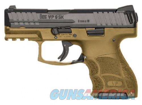 Heckler and Koch VP9SK Black / Flat Dark Earth 9mm 3.39-inch 10Rds Night Sights  Guns > Pistols > L Misc Pistols