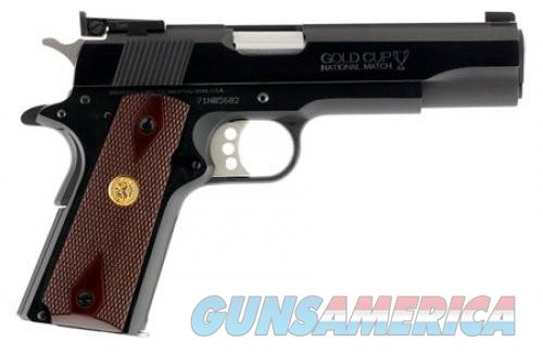 Colt Firearms Gold Cup National Match Blue 9mm 5-inch 9Rds  Guns > Pistols > L Misc Pistols