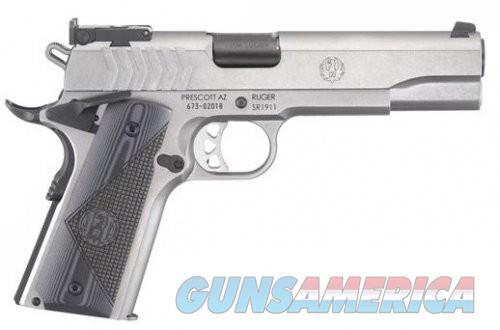 RUGER SR1911 Target Stainless 9mm 5-inch 9rd Extended Magazine Release  Guns > Pistols > L Misc Pistols