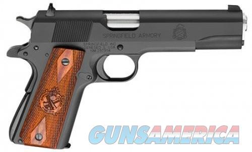 Springfield 1911 Mil-Spec .45ACP 5 Inch 7 Rd 3 Dot Sights Black/ Parkerized  Guns > Pistols > L Misc Pistols