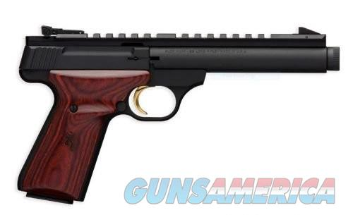 Browning Buck Mark Field Target Matte Black / Rosewood .22 LR 5.5-inch 10Rd Threaded Barrel  Guns > Pistols > L Misc Pistols