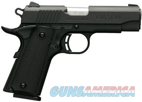 Browning 1911-380 Black Label Pistols (Full Size)  Guns > Pistols > Browning Pistols > Other Autos