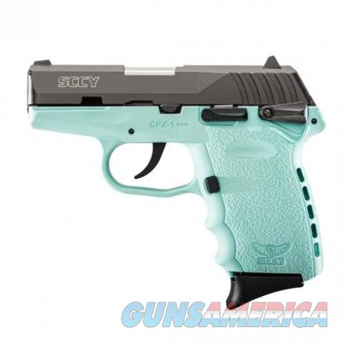 SCCY CPX-1 Black / Sky Blue 9mm 3.1-inch 10Rd Ambidextrous Safety  Guns > Pistols > L Misc Pistols
