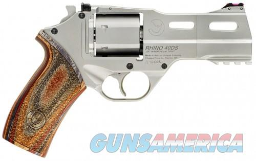 Chiappa Firearms Rhino Revolver .357 Mag 4in 6rd Nickel Wood 40DSWR  Guns > Pistols > L Misc Pistols