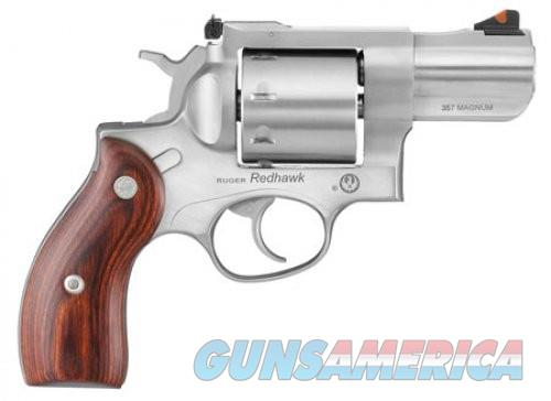 RUG REDHAWK 357MAG 2.75 SS AS HARDWOOD GRIP 8RD  Guns > Pistols > Ruger Double Action Revolver > Redhawk Type