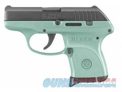 Ruger LCP Black / Turquoise Cerakote .380 ACP 2.75-inch 6Rd TALO Exclusive  Guns > Pistols > L Misc Pistols