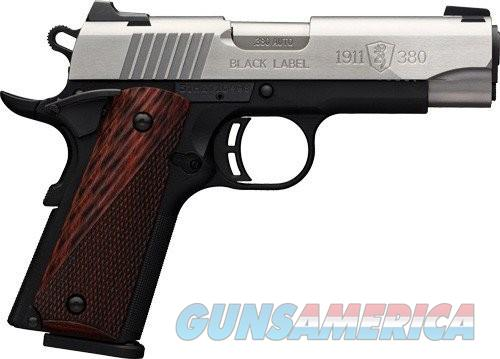 BRO 1911-380 380ACP 8RD 3 5\8 BLACK LABEL SS  Guns > Pistols > Browning Pistols > Other Autos