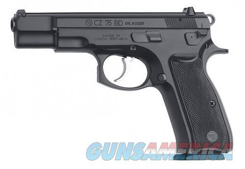 CZ 75 BD Black 9 mm 4.6-inch 16Rd  Guns > Rifles > CZ Rifles