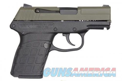 Kel-Tec PF-9 9mm 3.1-inch Barrel 7rd OD Green slide Black Frame  Guns > Pistols > L Misc Pistols