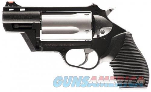 Taurus Judge Public Defender Black Polymer / Stainless .45 LC / . 410 GA 2.5-inch 5rd Fiber Front Sight  Guns > Pistols > L Misc Pistols