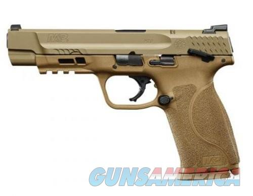 Smith and Wesson M&P9 M2.0 Flat Dark Earth 9mm 5-inch 17Rds w/ Thumb Safety  Guns > Pistols > L Misc Pistols