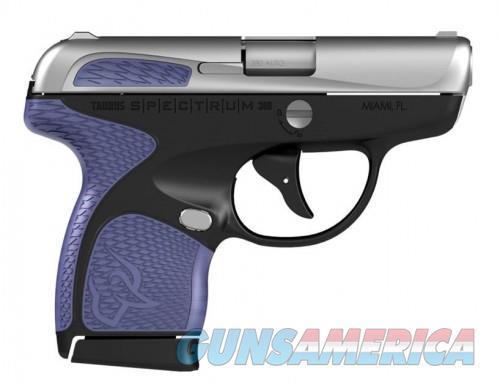 Taurus Spectrum Stainless .380 ACP 2.8-inch 6Rds Purple Slide & Frame Accents  Guns > Pistols > L Misc Pistols
