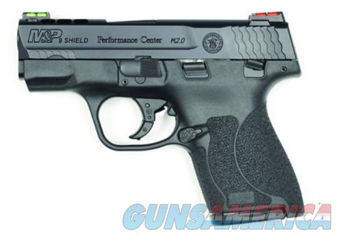Smith and Wesson M&P9 Shield 2.0 HiViz Sights 9mm 3.1-inch 8Rds Manual Safety  Guns > Pistols > L Misc Pistols